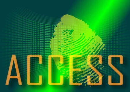 access control: Access to system with scanning of a fingerprint