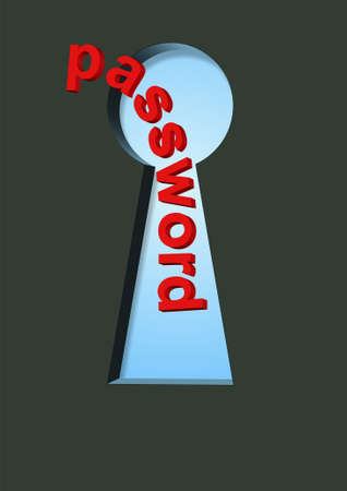 password in keyhole