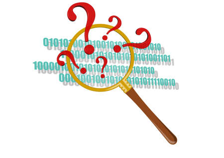 question mark in magnifier Stock Photo - 15538576