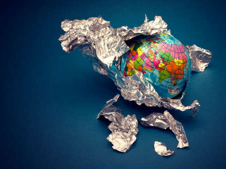 global in foil Stock Photo
