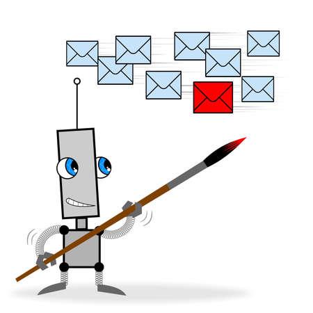 robot mark letter