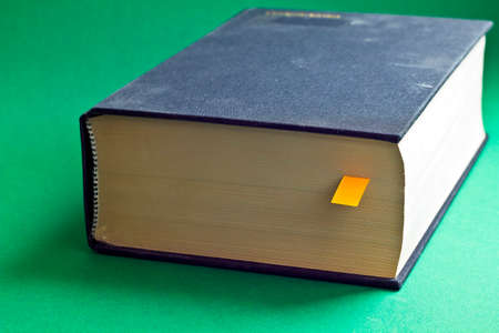 This is black book with yellow bookmark
