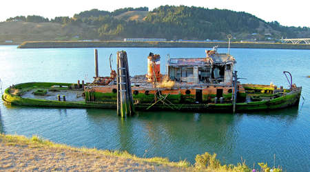 wreckage: Wreck of the Mary D Hulme Stock Photo