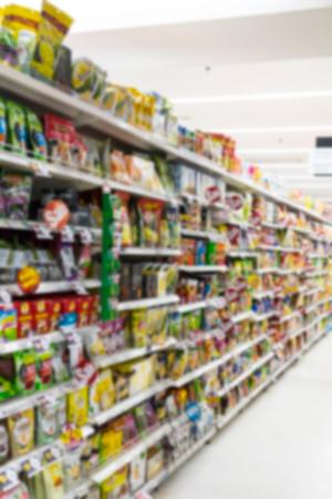 Abstract blurred  supermarket for background Reklamní fotografie - 92445774