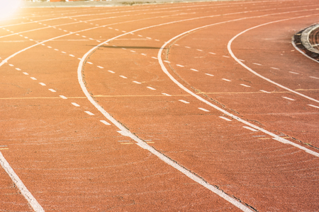 Running track in stadiums for sport