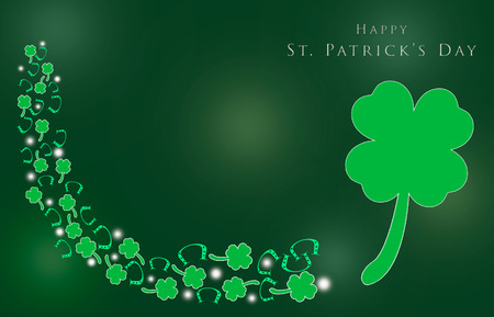 St. Patrick s Day with shamrocks for background Stock Photo