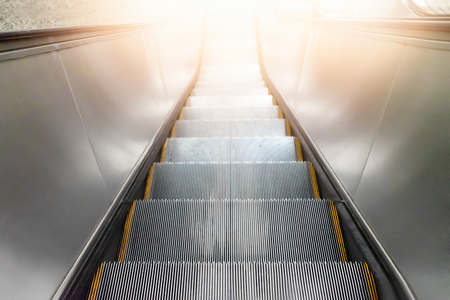 Subway escalators with lighting.  Target for business concept 스톡 콘텐츠 - 124968605