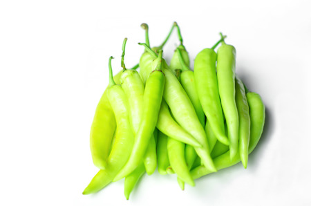 Fresh green pepper for an ingredient Imagens