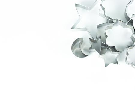 Ausstecherform auf weißem Hintergrund isoliert. Standard-Bild