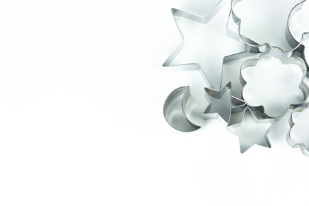 Cookie cutter shape on isolated white background. Фото со стока