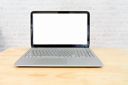 Mock up screen on laptop 스톡 콘텐츠