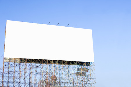 Blank billboard ready for new advertisement 스톡 콘텐츠