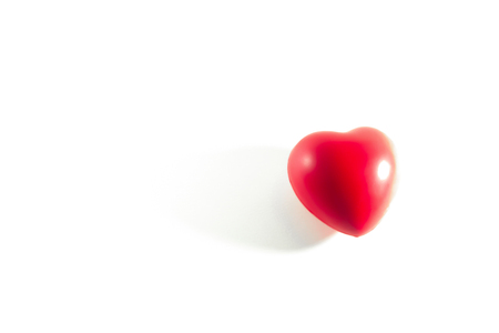 Red heart isolated on white.  Concept valentines' day