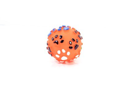 Rubber ball is toy for pet. Pet accessories concept