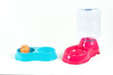 Pet feed on isolated white background.