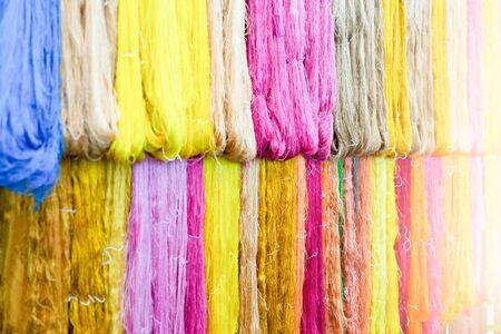 Thai silk fibers for background