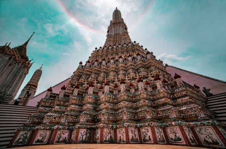 Wat Arun is famous place for tourists at Thailand