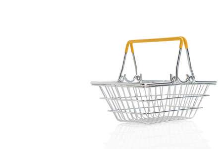 Shopping basket on isolated white background