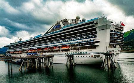 Juneau, AK, USA - May 25, 2016:  The cruise ship Grand Princess at dock in Juneau, Alaska.