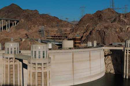 las vistas: Las Vegas, NV, USA - May 9, 2016:  Vistas of Hoover Dam, Lake Mead and the Mike OCallaghan�Pat Tillman Memorial Bridge located near to Las Vegas, Nevada. Editorial