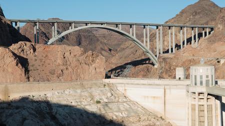 hoover dam: Las Vegas, NV, USA - May 9, 2016:  Vistas of Hoover Dam, Lake Mead and the Mike OCallaghan�Pat Tillman Memorial Bridge located near to Las Vegas, Nevada. Editorial