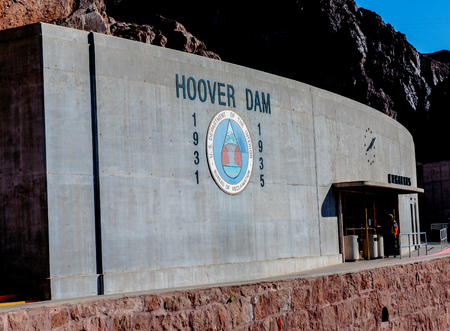 las vistas: Las Vegas, NV, USA - May 9, 2016:  Vistas of Hoover Dam, Lake Mead and the Mike OCallaghan�Pat Tillman Memorial Bridge located near to Las Vegas, Nevada.