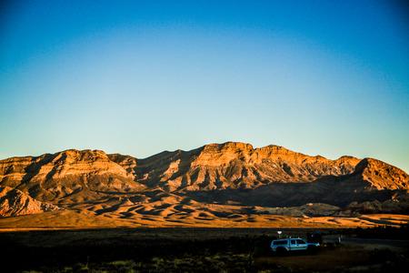 Las Vegas, NV, USA - November 5, 2015:  Rock formations and vista found at Red Rock Canyon National Conservation Area near Las Vegas, Nevada. Stok Fotoğraf