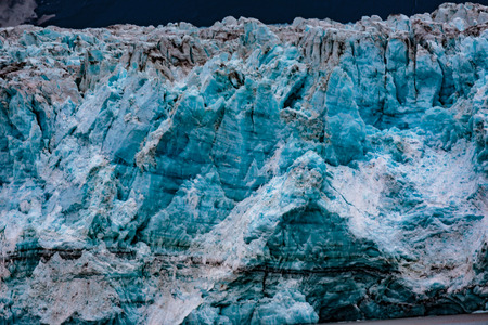 Hubbard Glacier, Alaska, USA - Sept. 11, 2016: This tidewater glacier is located in eastern Alaska and is part of Yukon Canada, off the coast of Yakutat�200 miles NW of Juneau Alaska. it is more than six miles wide where it meets the ocean.
