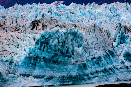 Hubbard Glacier, Alaska, USA - Sept. 11, 2016: This tidewater glacier is located in eastern Alaska and is part of Yukon Canada, off the coast of Yakutat—200 miles NW of Juneau Alaska. it is more than six miles wide where it meets the ocean. Editorial