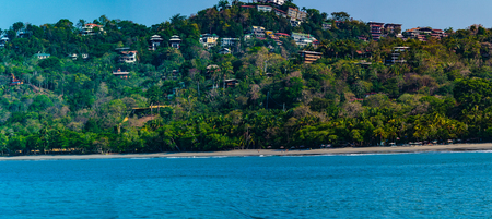 Manuel Antonio NP, Costa Rica - April 8, 2017:  Beautiful and secluded Playa Manuel Anotnio on the Pacific Coast of Costa Rica Stock Photo