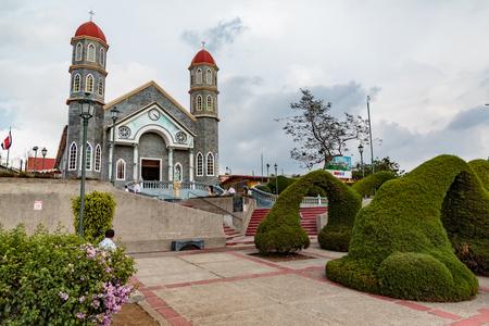 サンパブロ、コスタリカ - 2017 年 4 月 3 日: サン パブロ空港コスタリカの近くの小さな村ではこの美しい教会はサン ・ ラファエル ・ デ ・ エレディ