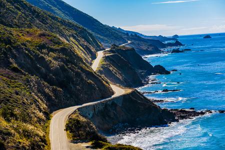 Pacific Valley, California: Highway 1 coursing along the California coastline.