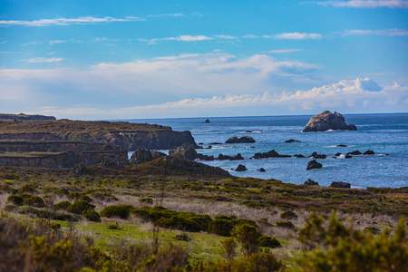 Morning in Pacific Valley along the California Coast and Highway, Pacific Valley, California Imagens
