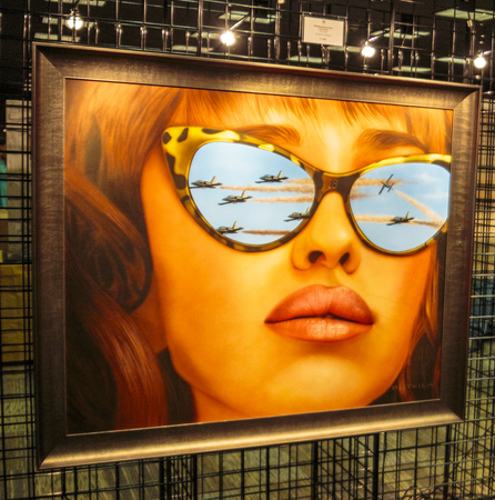Las Vegas, NV, USA - September 22, 2017:  Art, murals, signs and public spaces at the 2017 Life is Beautiful music festival staged in downtown Las Vegas. Editorial