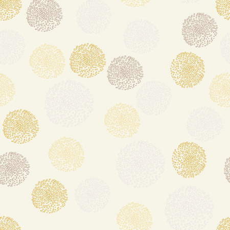 Seamless pattern with abstract big and small circles
