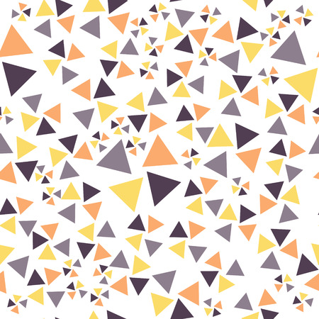 Seamless pattern with yellow, purple, orange exploding triangles Illustration