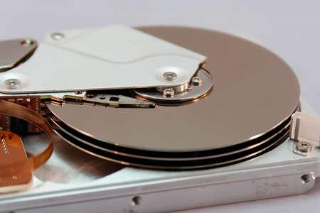 Die Festplatte im Detail betrachtet photo