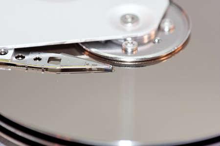 Die Festplatte im Detail betrachtet Stock Photo - 747657