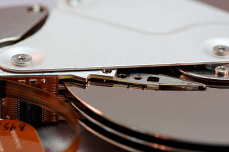 �Close up of a HDD photo