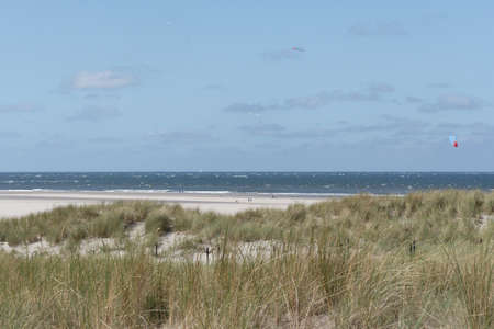 K�stenlandschaft auf Texel - coast at Tessel Stock Photo