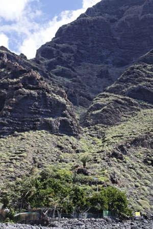 wild canary: the wild Masca valley at Tenerife - Spain - Canary Islands Stock Photo