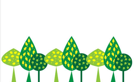 Decorative forest green on a white background Illustration
