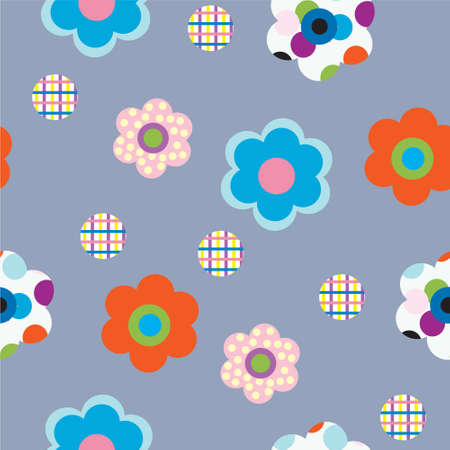 Decorative flowers on a gray background