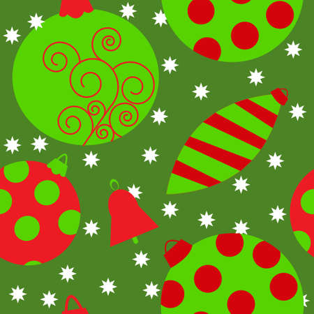 Seamless texture with a Christmas toys Vector