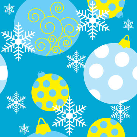Seamless texture with Christmas toys Vector