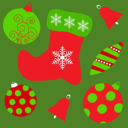 botas de navidad: Fondo incons�til con los juguetes de Navidad diferente