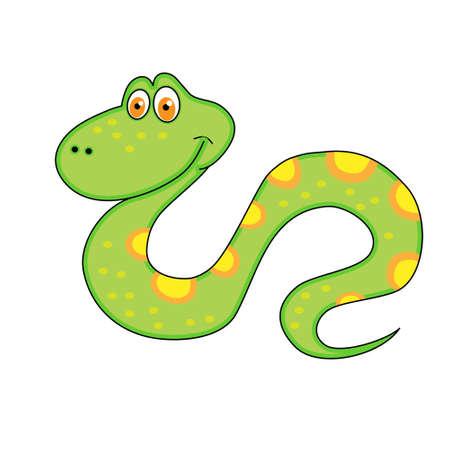 Snake Christmas a merry festive character Stock Vector - 16069666
