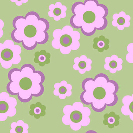 daisy flower: Seamless texture pattern with a flowers