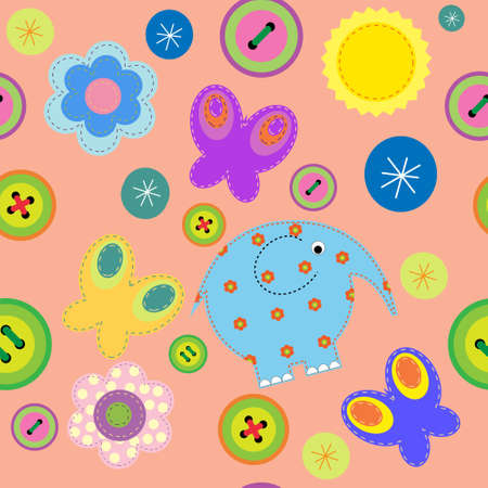 Seamless pattern of a children Vector