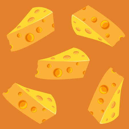 edam: Seamless pattern with a slices of cheese